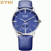 Đồng hồ nam EYKI dây da (xanh dương)