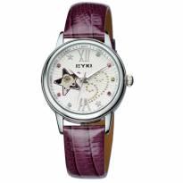 Đồng hồ nữ cơ tự động EYKI dây da (tím)