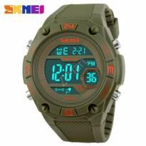 Đồng hồ SKMEI unisex dây Pu (xanh rêu)