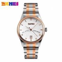 Đồng hồ nam SKMEI 9123 dây thép không gì (vàng đồng)