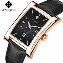 Đồng hồ nam WWOOR 8017 dây da (đen)