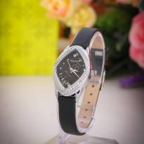 Đồng hồ nữ JULIUS JA660 dây da (đen)