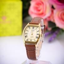 Đồng hồ nữ JULIUS JA-703 dây da (nâu)