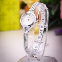 Đồng hồ nữ JULIUS JA-918 dây thép (trắng bạc)