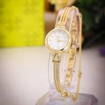 Đồng hồ nữ JULIUS JA-918 dây thép (vàng)