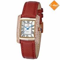 Đồng hồ nữ WWOOR 8806 dây da (đỏ)