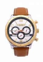 Đồng hồ nam JULIUS 6 kim JAH063 dây da (nâu)