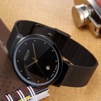 Đồng hồ nam JULIUS JA-426 dây thép (đen)