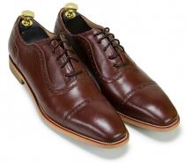 Giày buộc dây công sở màu nâu (0017N)