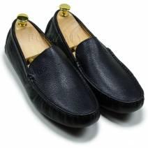 giày lười nam da trơn màu đen (601TTD)