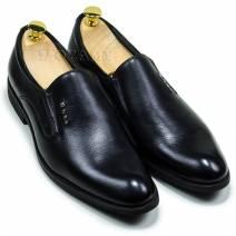 Giày lười da trơn màu đen (3005786)