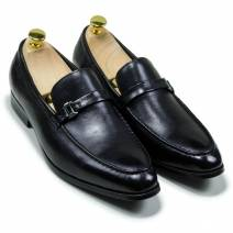 Giày lười đai ngang cao cấp màu đen (66228680)