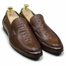 Giày lười nam màu nâu (21851N)