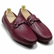 Giày lười đai ngang màu đỏ (108931N)