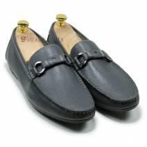 Giày lười nam đai ngang màu ghi (108931G)