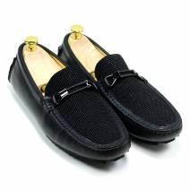 Giày lười xích ngang đen (MS: 99135)