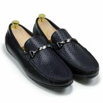 Giày lười xích ngang đen (MS: 160132)