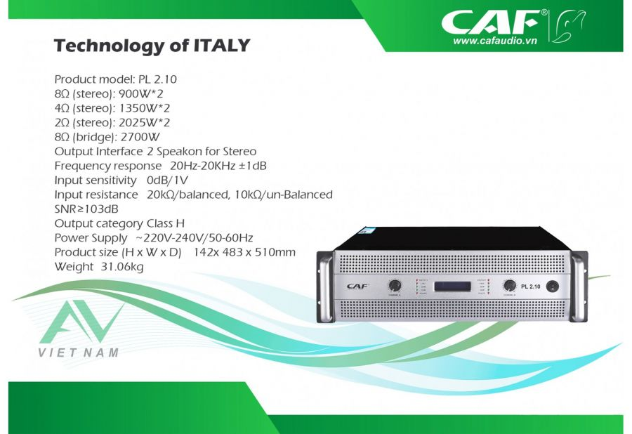 MAIN POWER CAF PL 2.10