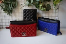 [Chanel] Clutch nắp 2 lớp phối màu