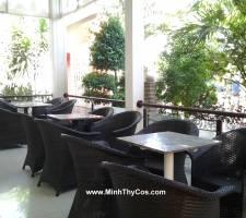 Bàn ghế Cafe giả mây Linh Lan Phan Thiet