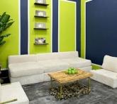 Phối màu sắc hợp phong thủy trong phòng khách