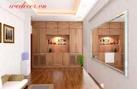 Thiết kế tủ phòng khách nhà chị Thương