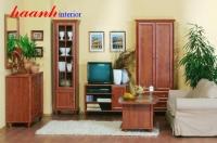 Tủ trang trí phòng khách gỗ tự nhiên TPK004