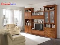Tủ trang trí phòng khách gỗ verneer TPK005