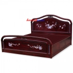 Giường gỗ gụ khảm GIC004