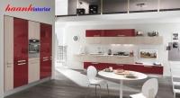 Bộ bếp công nghiệp cánh gỗ ACRYLIC BCN005