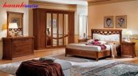 Phòng ngủ tân cổ điển gỗ gụ PNC005