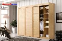 Tủ quần áo gỗ sồi tự nhiên TAH002