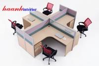 Vách ngăn văn phòng khung nhôm  VNP003