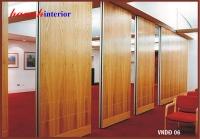 Vách ngăn di động gỗ veneer sồi VDD001