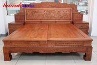 Giường gỗ hương cao cấp GIC005