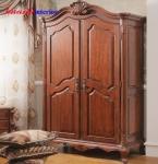 Tủ quần áo hai cánh gỗ gụ TAG005