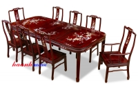 Bàn ghế ăn khảm BGC006