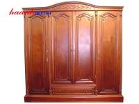 Tủ quần áo gỗ gụ bốn cánh TAG007