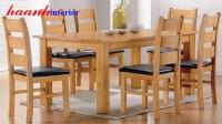 Bàn ghế ăn gỗ sồi BGA008