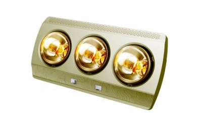 Đèn sưởi treo tường Kottmann 3 bóng mạ vàng