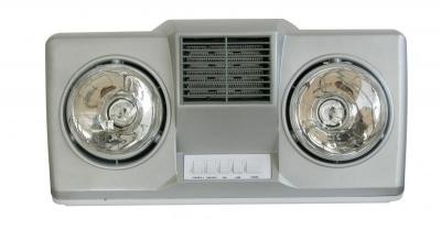 Đèn sưởi nhà tắm treo tường Hans 2 bóng có quạt gió H2B