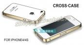 Ốp Viền nhôm Cross cho iPhone 4 4s