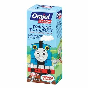 Orajel-Kem đánh răng nuốt được-mùi trái cây