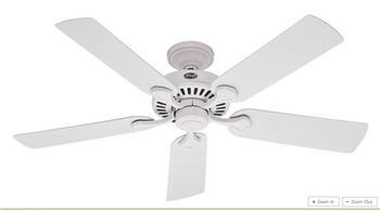 Quạt trần đèn cổ điển Hunter Five Minute Fan® - 52(21782)