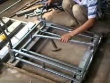 Ghe Gia May - Sản xuất khung ghế đôn mây nhựa