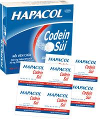 Hapacol Codein Sủi Thuốc giảm đau có kết hợp codein