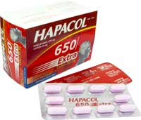 Hapacol 650 extra Giảm đau hạ sốt