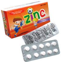 Zinc Phòng ngừa và điều trị các trường hợp thiếu kẽm