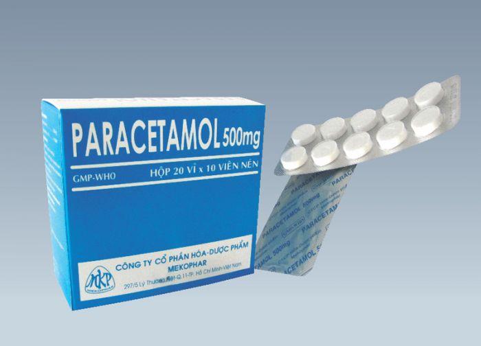 Paracetamol 500mg(vỉ 10 viên)