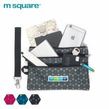 Túi 3 ngăn đựng đồ lặt vặt nhỏ gọn cầm tay Msquare